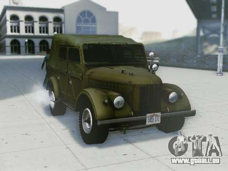 UAZ-69A für GTA San Andreas Rückansicht