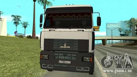 MAZ 5440 pour GTA San Andreas laissé vue