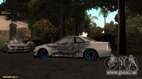 Nissan Skyline GTR 34 CIAY für GTA San Andreas rechten Ansicht