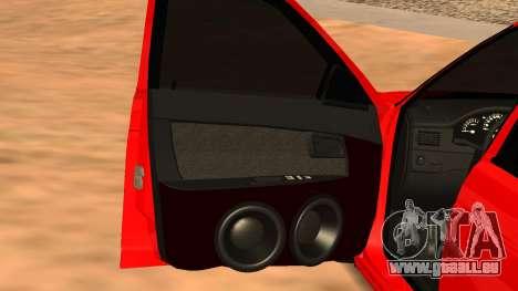 Lada 2170 pour GTA San Andreas sur la vue arrière gauche