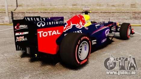 RB9 v6 voiture, Red Bull pour GTA 4 Vue arrière de la gauche