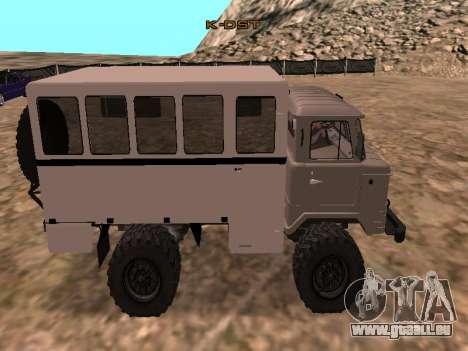 Regardez le GAZ 66 pour GTA San Andreas laissé vue