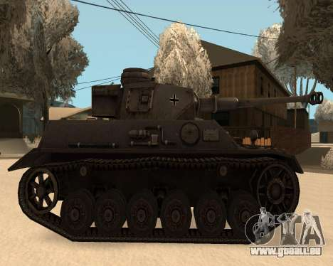Panzerkampfwagen pour GTA San Andreas sur la vue arrière gauche