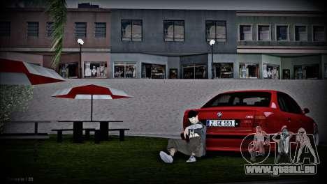 BMW 5-er E34 pour GTA San Andreas vue intérieure