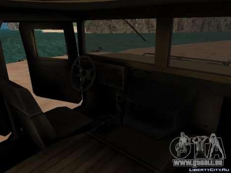 Hamvee M-1025 de Battlefiled 2 pour GTA San Andreas laissé vue