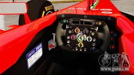 Ferrari F138 2013 v2 für GTA 4 Innenansicht