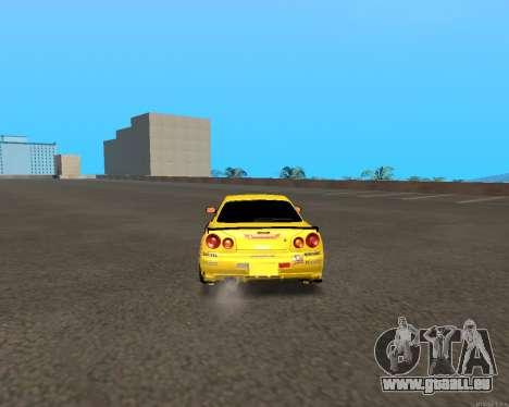 Nissan Skyline R34 Azusa Mera pour GTA San Andreas vue de droite