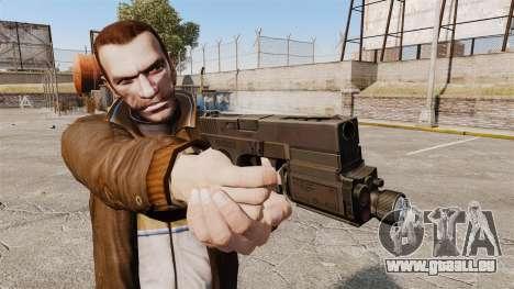 Taktische Pistole Glock 18 v1 für GTA 4 dritte Screenshot