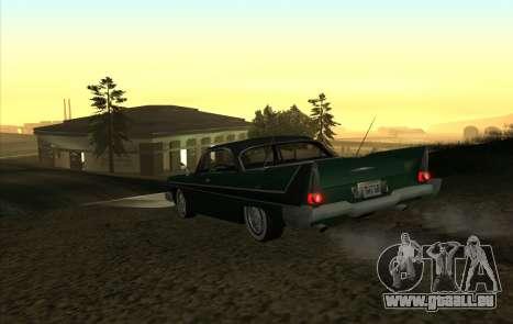 Plymouth Fury pour GTA San Andreas vue de droite