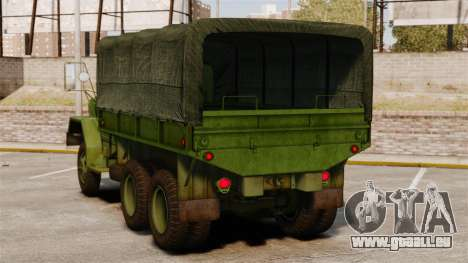 Base militaire camion AM général M35A2 1950 pour GTA 4 Vue arrière de la gauche