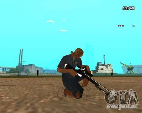 White Chrome Sniper Rifle für GTA San Andreas