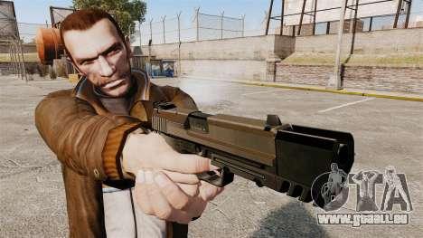 Chargement automatique pistolet USP H & K v2 pour GTA 4 troisième écran