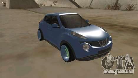 Nissan Juke Lowrider pour GTA San Andreas laissé vue