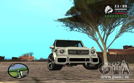 Mercedes-Benz G65 AMG für GTA San Andreas obere Ansicht
