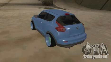 Nissan Juke Lowrider pour GTA San Andreas vue de droite