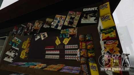 Les kiosques mis à niveau et des charrettes de d pour GTA 4 troisième écran