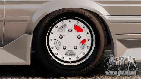 Toyota Corolla GT-S AE86 Trueno pour GTA 4 Vue arrière