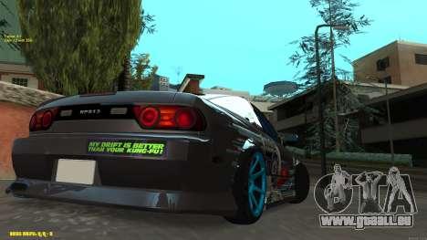 Nissan Silvia RPS13 CIAY pour GTA San Andreas sur la vue arrière gauche