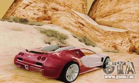 Bugatti Veyron 16.4 Concept pour GTA San Andreas vue de droite
