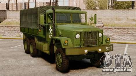Base militaire camion AM général M35A2 1950 pour GTA 4