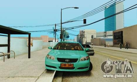 Toyota Corolla City Mastercab pour GTA San Andreas vue arrière
