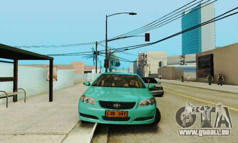 Toyota Corolla City Mastercab für GTA San Andreas Rückansicht
