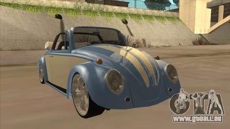 VW Beetle 1969 pour GTA San Andreas laissé vue