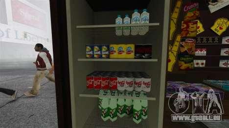 Die aktualisierten Kioske und heiße Dogovye Karr für GTA 4 Sekunden Bildschirm