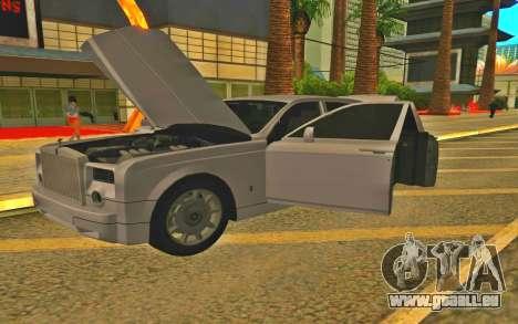 Rolls-Royce Phantom für GTA San Andreas zurück linke Ansicht