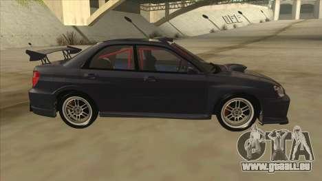 Subaru Impreza WRX STI Drift 2004 pour GTA San Andreas sur la vue arrière gauche