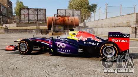 Voiture, Red Bull RB9 v2 pour GTA 4 est une gauche