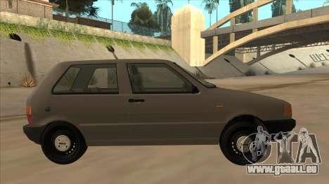 Fiat Uno 1995 für GTA San Andreas zurück linke Ansicht