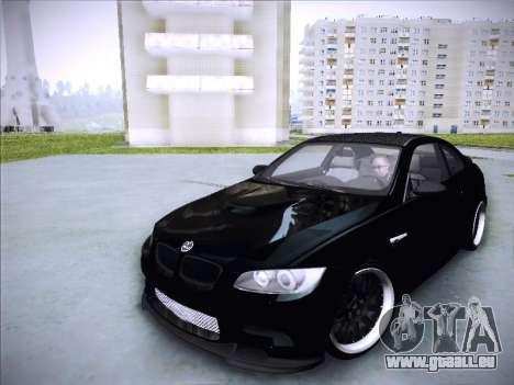 BMW M3 E92 Hamann 2012 pour GTA San Andreas vue arrière