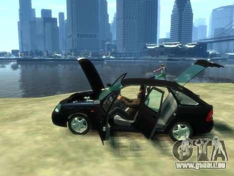 Lada Priora pour GTA 4 Vue arrière