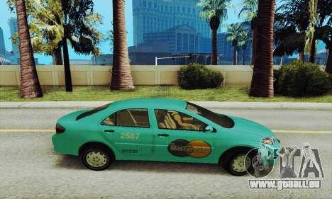 Toyota Corolla City Mastercab pour GTA San Andreas laissé vue