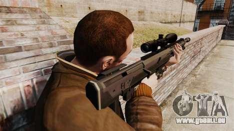 Le DSR-1 sniper rifle pour GTA 4 secondes d'écran