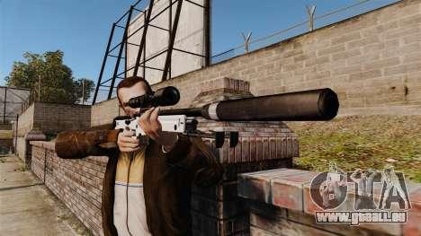Fusil de sniper AW L115A1 avec un silencieux v1 pour GTA 4 troisième écran