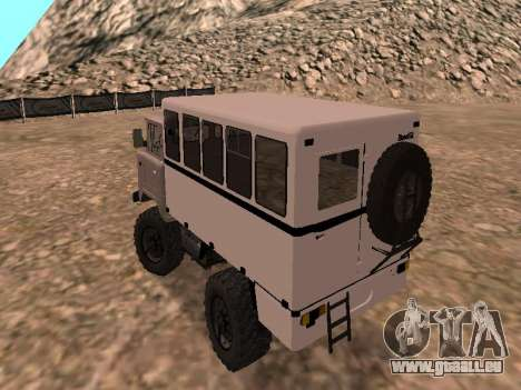 Regardez le GAZ 66 pour GTA San Andreas sur la vue arrière gauche