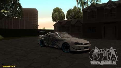 Nissan Skyline GTR 34 CIAY für GTA San Andreas
