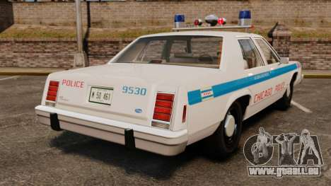 Ford LTD Crown Victoria 1987 [ELS] pour GTA 4 Vue arrière de la gauche
