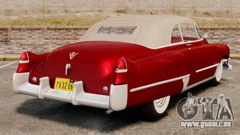 Cadillac Series 62 convertible 1949 [EPM] v1 pour GTA 4 Vue arrière de la gauche
