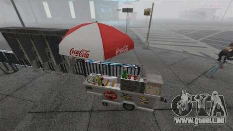 Les kiosques mis à niveau et des charrettes de d pour GTA 4 septième écran
