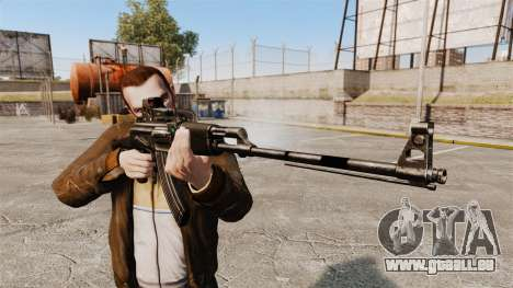 Mitrailleuse Kalachnikov pour GTA 4 troisième écran