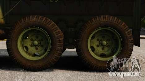 Base militaire camion AM général M35A2 1950 pour GTA 4 Vue arrière