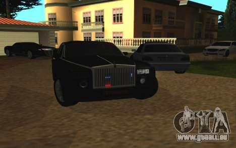 Rolls-Royce Phantom v2.0 pour GTA San Andreas vue arrière