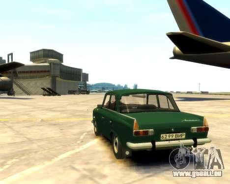 Moskvitch 412 pour GTA 4 est une gauche