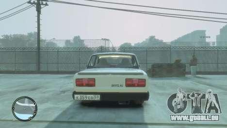 VAZ 2105 pour GTA 4 Vue arrière de la gauche