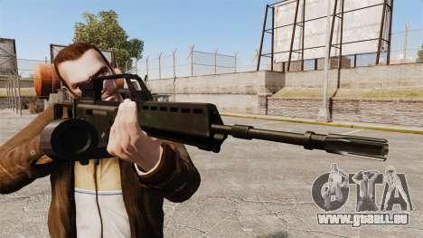 Fusil d'assaut H & K MG36 v1 pour GTA 4 troisième écran