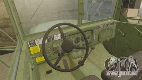 Base militaire camion AM général M35A2 1950 pour GTA 4 vue de dessus