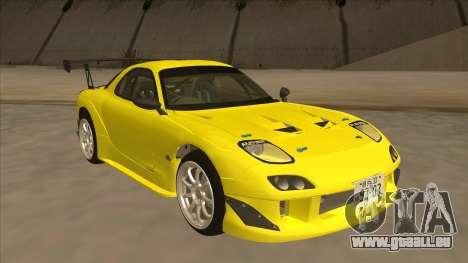 Mazda RX7 FD3S RE Amemyia Touge Style pour GTA San Andreas laissé vue
